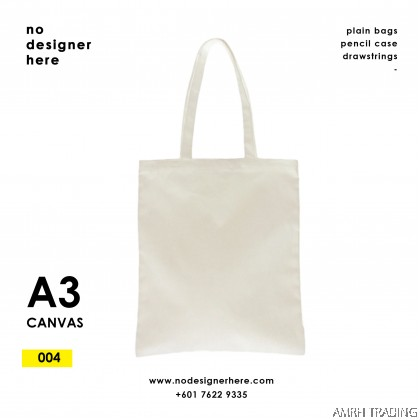 CODE: 004  (Canvas A3 size Beige Color Tote Bag)