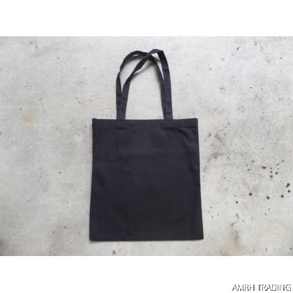 CODE: 001CB  (Cotton A3 size Black Tote Bag)