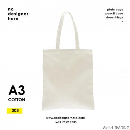 CODE: 005  (Cotton A3 Size Tote Bag)