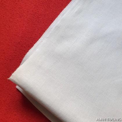 "100% Cotton White Plain Fabric 36"""