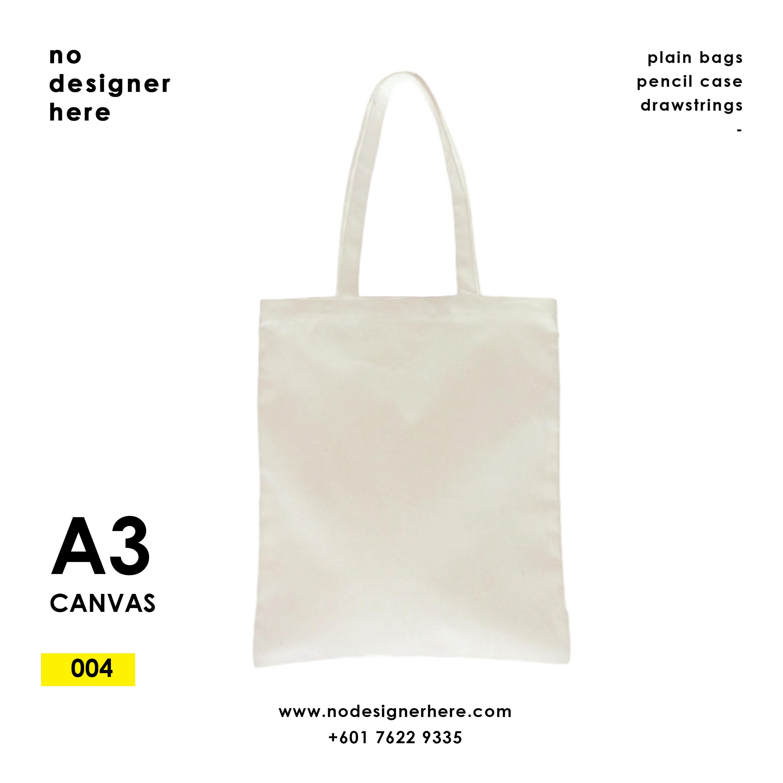 CODE: 004  (Canvas A3 size Beige Color Tote Bag)