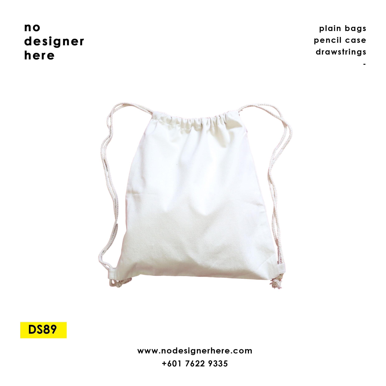 CODE: DS89  (Beige Drawstring Bag)