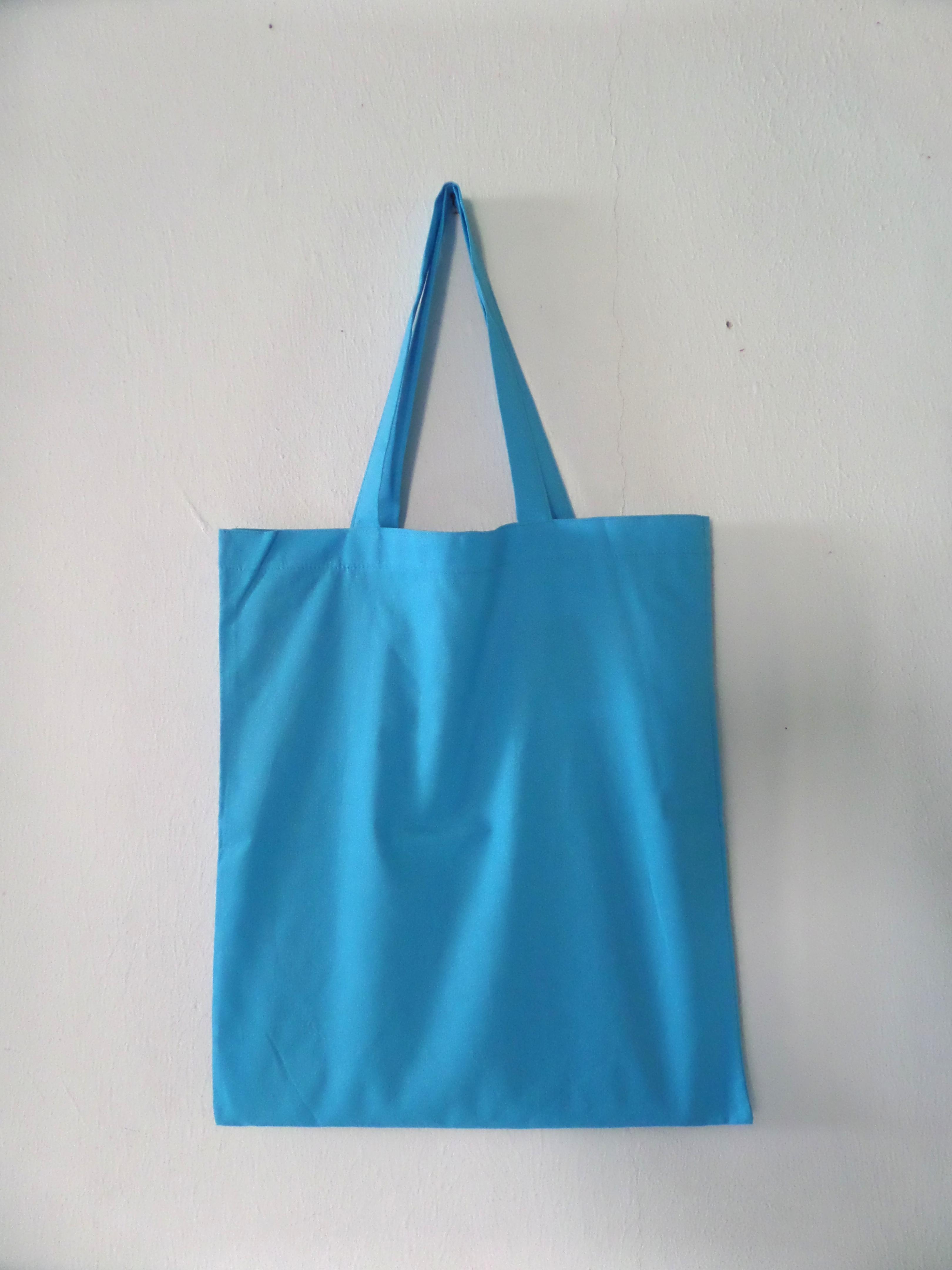 CODE: BL05   (Cotton A3 size Blue Tote Bag)
