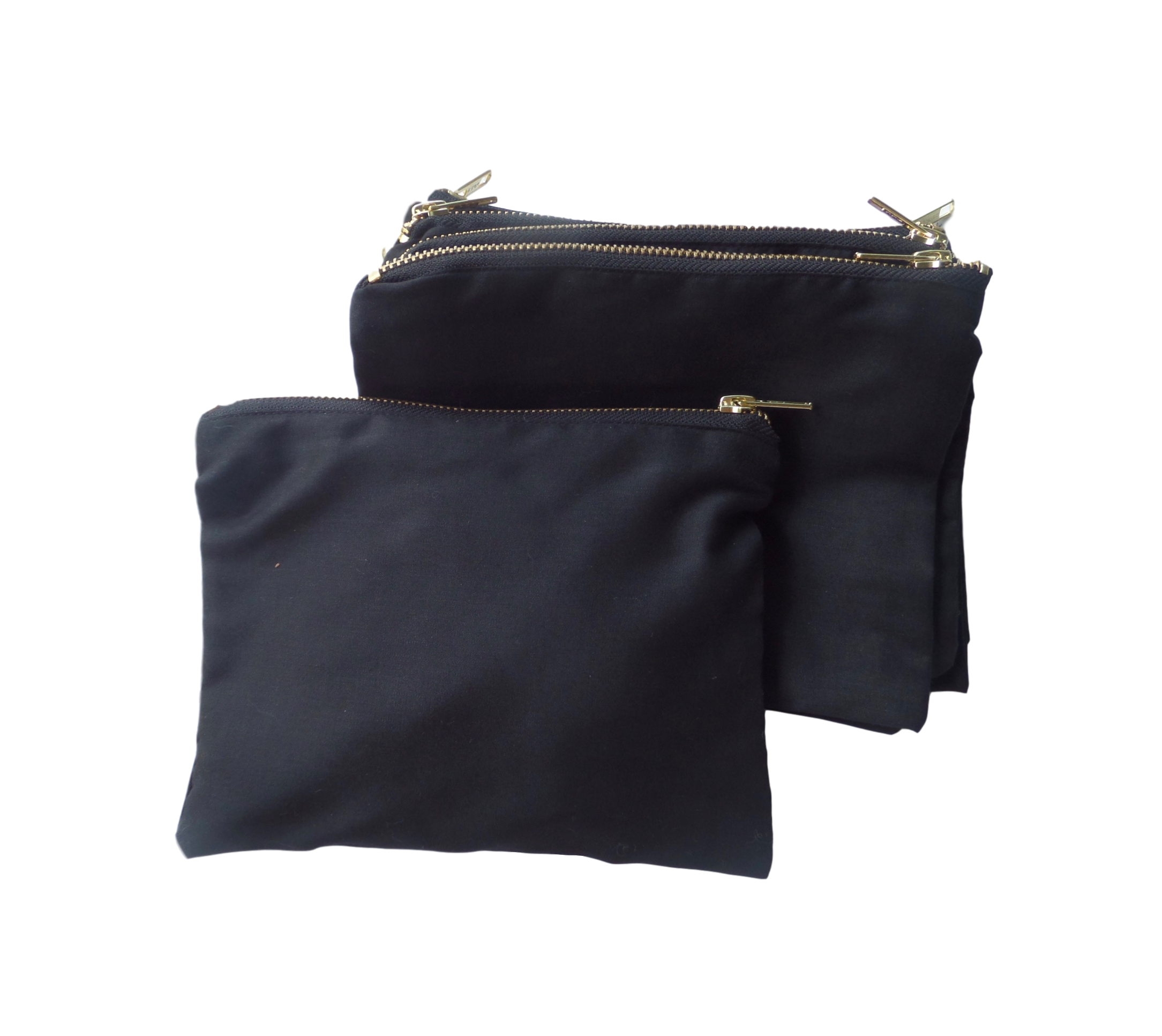 CODE: CT50  (Black Cotton Pencil Case with Gold Zip)